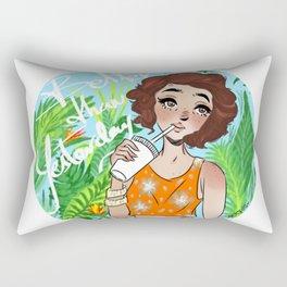 Better Than Yesterday. By Ane Teruel Rectangular Pillow