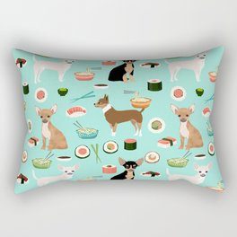chihuahua sushi dog lover pet gifts cute pure breed chihuahuas multi coat colors Rectangular Pillow