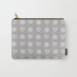 Gray heart and elephant foot symbols Carry-All Pouch