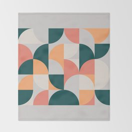 Mid Century Geometric 17 Throw Blanket