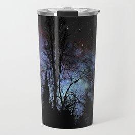 Black Trees Dark Space Travel Mug