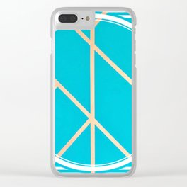 Leaf - circle/line graphic Clear iPhone Case