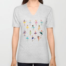 All the Ballerina Princesses Unisex V-Neck