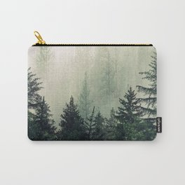 Foggy Pine Trees Carry-All Pouch