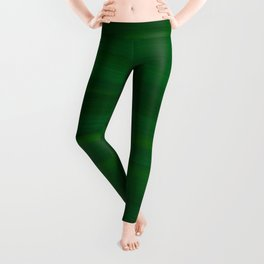 Emerald Green Stripes Abstract Leggings