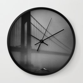 We burned our bridges Wall Clock