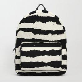 Tribal Stripes Black on Cream Backpack