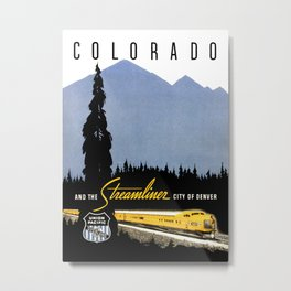 Union Pacific Train poster 1936 - Retouched Version Metal Print