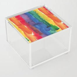rainbow watercolor Acrylic Box