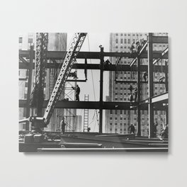 Steel workers New York City Metal Print