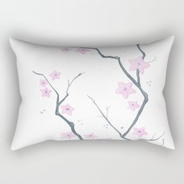 Cherry Blossom - Flores de cerejeira Rectangular Pillow