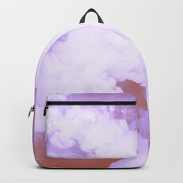 DREAMY PINK AND WHITE RAINBOW CLOUDS Backpack