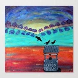 Crow's Well Canvas Print
