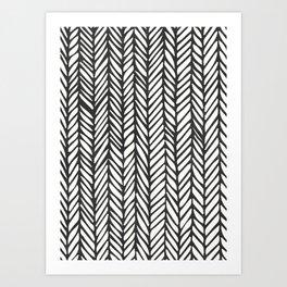 Black Threads Art Print
