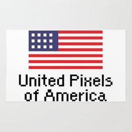 United Pixels of America (USA 8bit Flag) Rug