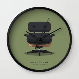Lounge Chair - Charles & Ray Eames Wall Clock