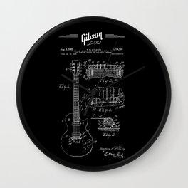 Gibson Les Paul Guitar Patent Drawing 1955 - Blueprint - Music Wall Clock