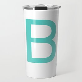 Custom Blue Scrabble Letter B Travel Mug