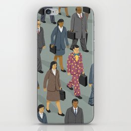 Happy commuter iPhone Skin