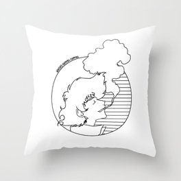 Whatever Happens, Happens (circle b&w) Throw Pillow