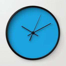 Oktoberfest Bavarian Blue Solid Color Wall Clock