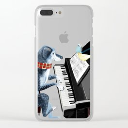 Piano lesson ( Doggy Art ) Clear iPhone Case