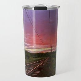 Northern sunset at white night Travel Mug