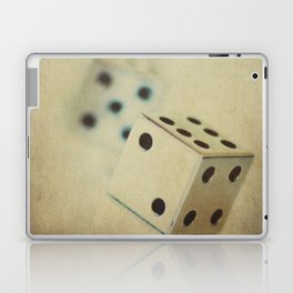 Vintage Chrome Dice Laptop & iPad Skin
