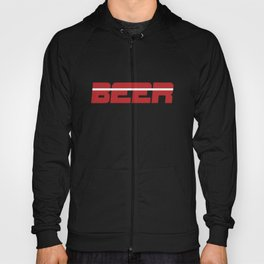 Beer is my Sport (Red Letters White Stripe) Hoody