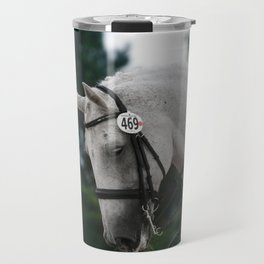 dressage in fall Travel Mug