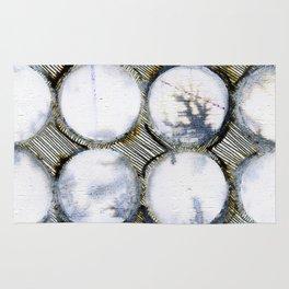 WATERCOLOUR DISCS: White Howlite (detail ) Rug