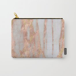 Aprillia - rose gold marble with gold flecks Carry-All Pouch