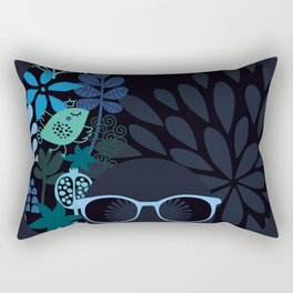 Afro Diva : Sophisticated Lady Teal Rectangular Pillow