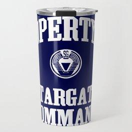 Property of Stargate Command Athletic Wear White ink Travel Mug