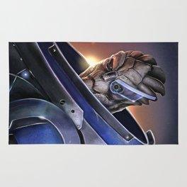 Garrus Vakarian Portrait - Mass Effect Rug