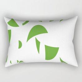 Abstract the Green Rectangular Pillow