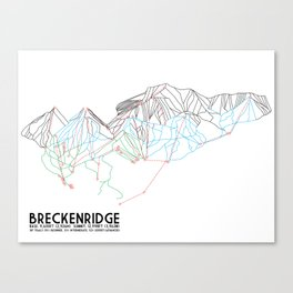 Breckenridge, CO - Minimalist Trail Map Canvas Print