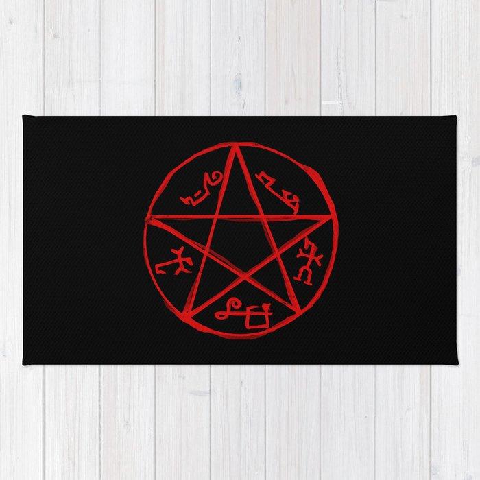 Devils Trap Supernatural Rug By Kanahyde Society6