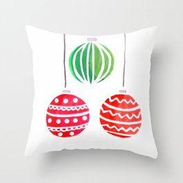Christmat ornaments Throw Pillow