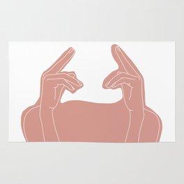 Hands line drawing illustration collage - Ena Rug