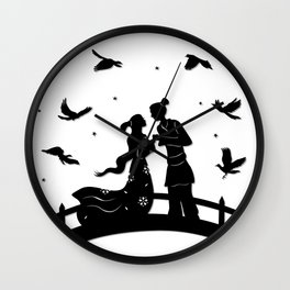 The Cowherd & the Weaving Maiden - Magpie bridge Wall Clock