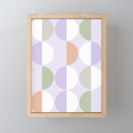 Mid Century Modern Sun and Moon Pattern 3 Framed Mini Art Print