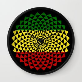Flower of Rasta Life Wall Clock