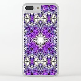Palm Leaves Abstract Art Pattern Clear iPhone Case