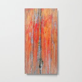 Weathered Wood Shutter rustic decor Metal Print