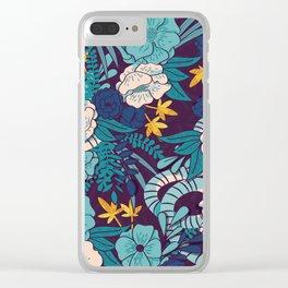 Jungle Pattern 003 Clear iPhone Case