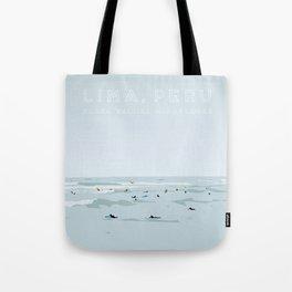 Lima, Peru, Playa Waikiki, Miraflores Travel Poster Tote Bag