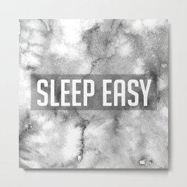 Sleep Easy Marble Mantra Metal Print