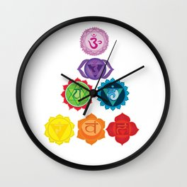 Seven Chakras Wall Clock