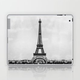 Eiffel tower in B&W with painterly effect Laptop & iPad Skin